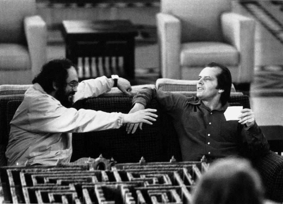 The Shining (1980) Stanley Kubrick and Jack Nicholson on the set